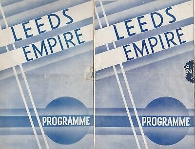 1936/1938 Two Vintage Leeds Empire Early Variety Programmes