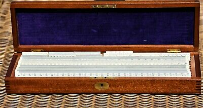 A Full Set Of Engineers Surveyors Measurement Scale Rule Rulers In Good Cond.