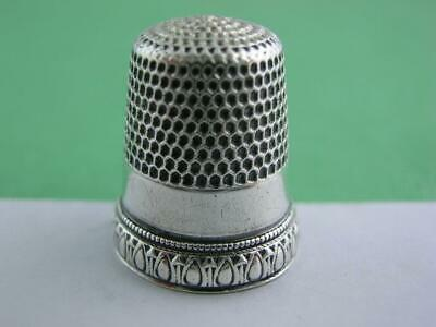 Vintage Sterling Silver SIMONS Thimble PRISCILLA pat. May 31 1898 - size 8