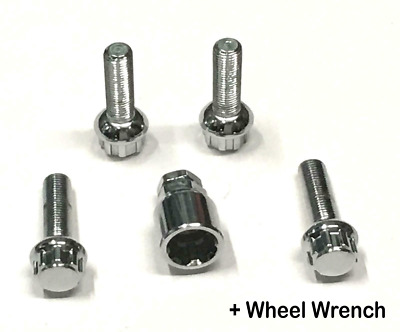 Extendable Wheel Wrench & Wheel Nut Bolt Locking Set Replacement 12mm X1.5mm
