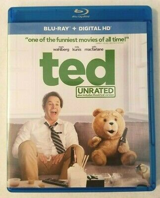 Ted (Blu-ray Disc, 2015, Includes Digital Copy UltraViolet With Movie Cash)