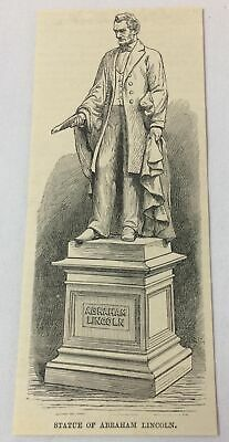 1885 magazine engraving ~ STATUE OF ABRAHAM LINCOLN