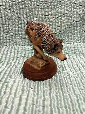 """""""Footloose"""" Wolf Sculpture by Stephen Herrero, Limited Edition #4104"""