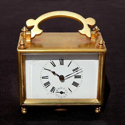 French Officer's Carriage Clock Antique