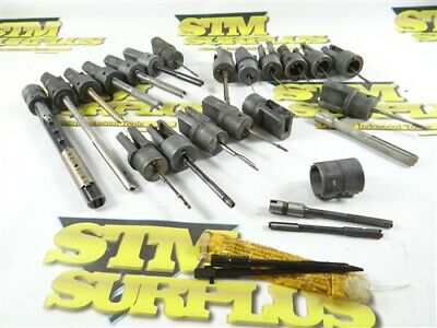 Large Lot Of Sunnen Hone Mandrel Adapters + Concentric Sleeve & New Mandrel