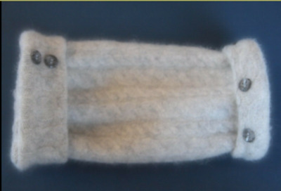 Fingerless Gloves Women's Light Gray 100% Cashmere Grey One Size Fits Most S M L