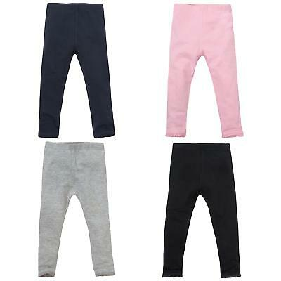 Girls Good Quality Full Length Leggings with Lace Trim Ankle ~ 2-7 Years