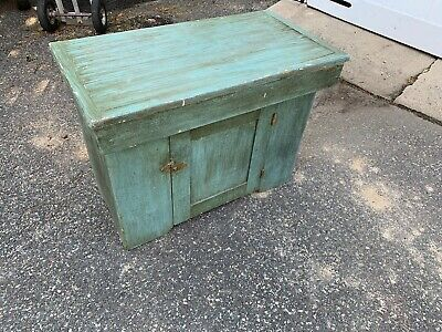 Primitive Country side serverFarmhouse Rustic Painted Green