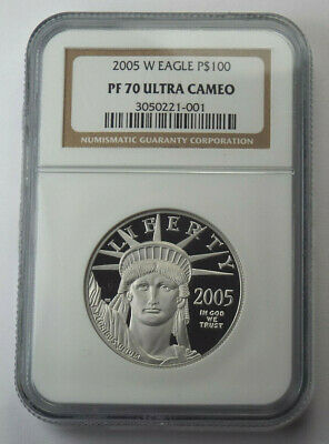 2005-W $100 American Platinum Eagle Proof 1 Oz Ounce .9995 Fine NGC PF70 UC