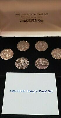 1992 Olympic Russia Ussr 6 Coin Proof Set