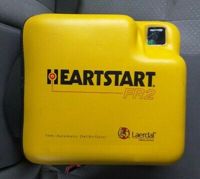 Laerdal HeartStart FR2+ AED Defibrillator + Battery+ in date service sticker