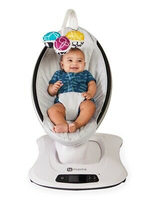 4moms mamaRoo 4 Bluetooth Enabled High-Tech Baby Swing -gray
