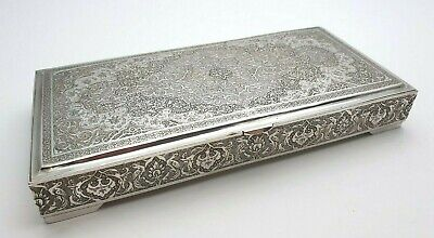 Fine Persian Silver Box With Intricate Decoration 11 1/2 Troy Ounces - Perfect