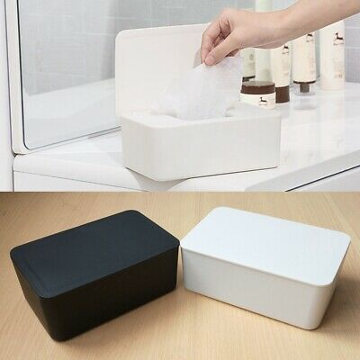 Wet Wipes Dispenser Holder Storage Box Case with Lid White Home Office