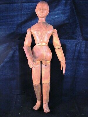 19th century? hand carved lay figure articulated artist mannequin