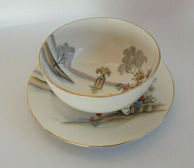 Noritake ? Tri Footed Bowl with Underplate