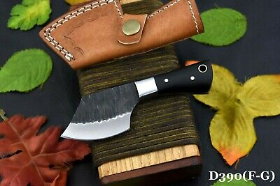 D2 Tool Steel Skinning Hammered Cleaver Hunting Knife Handmade, No Damascus (G)