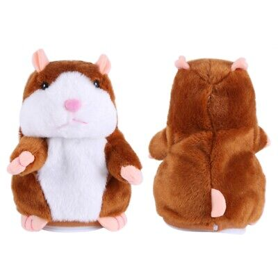 Repeats What You Say Gift Toy Talking Hamster Mouse Plush Doll for Kids Adult US