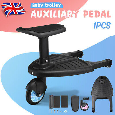 Buggy Stroller Step Board Stand Toddler Kids Wheeled Pushchair Connector
