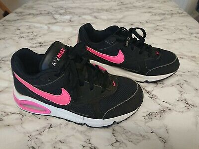 Nike Air Max Girls Black/Pink Trainers Shoes Size 13