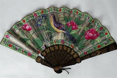 Stunning Antique Chinese Handpainted Fan
