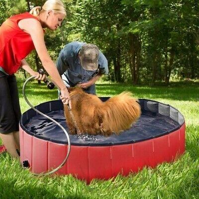 Piscine pour Chien Bassin Gonflable Pliable Swimmingpool 4 Formulaire Neuf