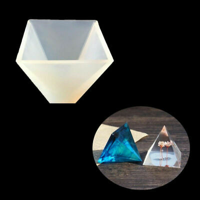 Mold DIY Craft Resin Silicone Tool Pendant Jewelry Pyramid Making Mould Epoxy