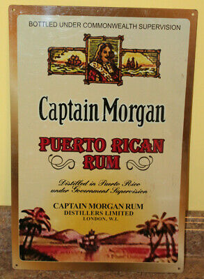 "Captain Morgan Puerto Rican Rum Tin Sign 12"" x 18"""
