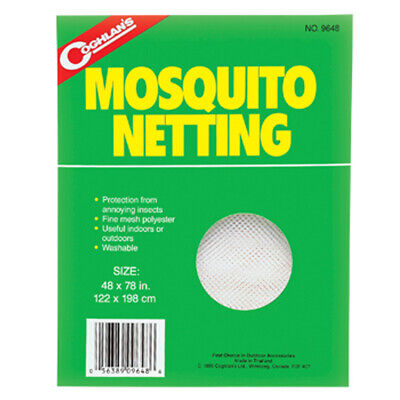 Coghlan's Mosquito Netting Canopy Bed Net Insect Bee White Mesh Shade Cover