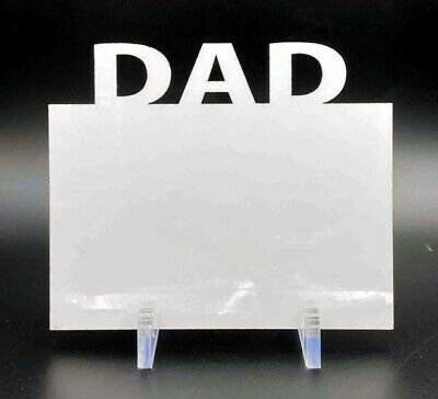 """Sublimation Blank White Hardboard (3 Pack) with Stands - """"DAD"""" Top"""