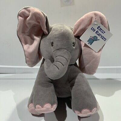 "NWT Dimples Plush Elephant Emily Peek-a-Boo Animated Talking Singing 12"" x 9"""