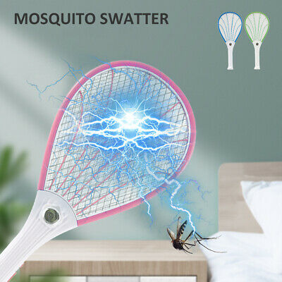 Fly Swatter Bug Zapper Electric Bat Insect Killer Wasp Mosquito Racket USB