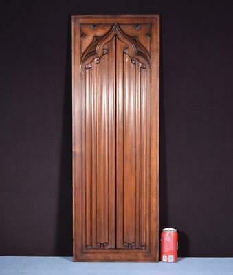*Antique Neo Gothic Carved Architectural Panel in Solid Walnut Wood Salvage