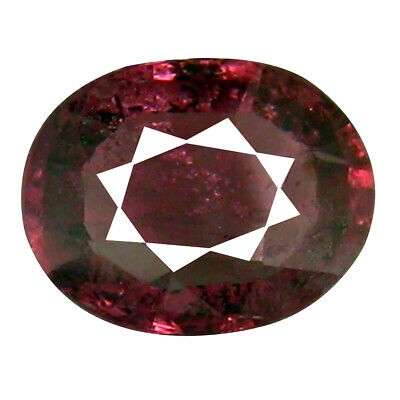 1.45 CT Clignotant Coupe Ovale (8 X 6 MM ) Tanzanie Rose Malaya Gemme Grenat