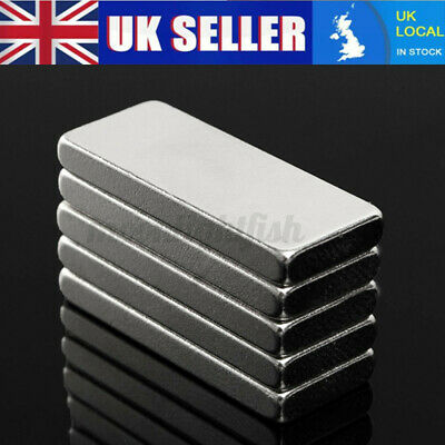 5PCS//SET 40X10X4MM N52 STRONG BLOCK BAR FRIDGE RARE EARTH NEODYMIUM MAGNETS ORNA