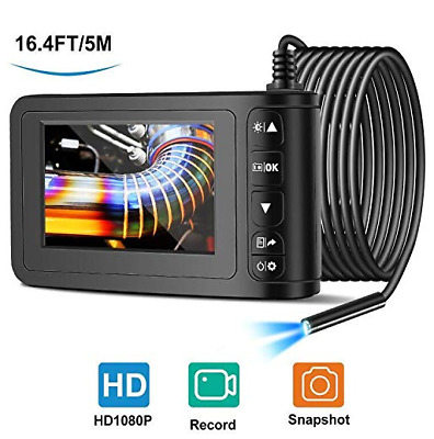 Industrial Endoscope with 4.3 inch LCD,Borescope Sewer Camera Waterproof Inspect