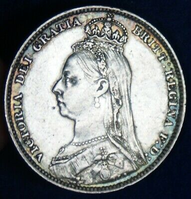1891 Great Britain One Shilling Silver Coin