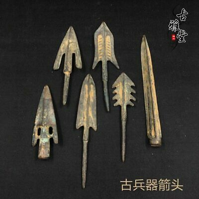 1pcs Chinese antiques Fengshui bronze ware Ancient Arrow weapon