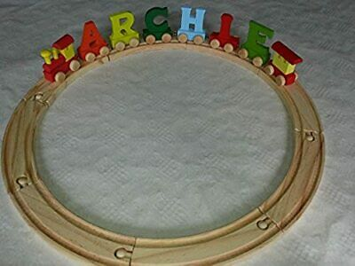 *6* letter name wooden colour alphabet train and track by Every Lesson Counts