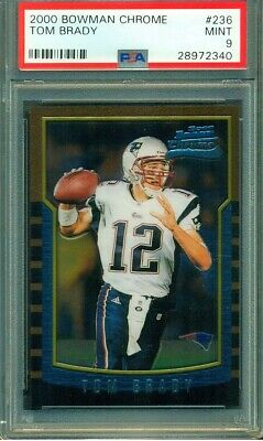 2000 Bowman Chrome Tom Brady #236 Rookie RC New England Patriots PSA 9 MINT