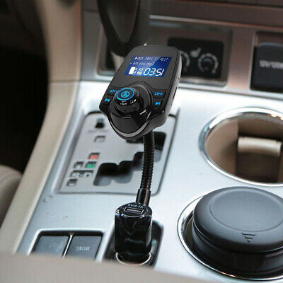 Wireless Bluetooth Handsfree Transmitter In-Car MP3 FM Dual USB LCD Charger Kit