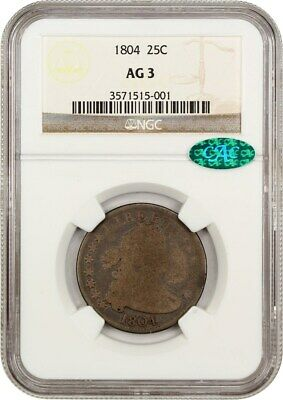 1804 25c NGC/CAC AG-03 - Key Date Early Draped Bust Quarter - Bust Quarter