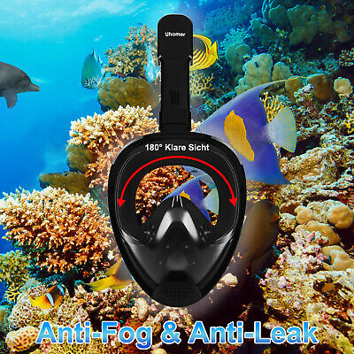 Anti-Fog Swimming Diving Full Face Mask Snorkel Scuba GoPro Dry Anti-Leak Safety