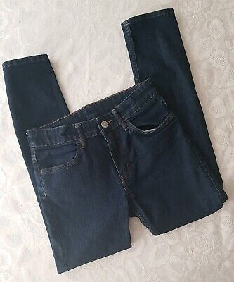 H&M Girls Skinny Jeans Indigo Dark Blue Age 10-11 Years Hardly Used At All