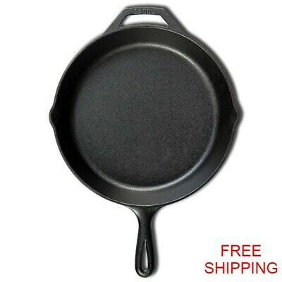 "Lodge 12"" Cast Iron Skillet Pre-Seasoned L10SK3 - NEW - FREE SHIPPING"