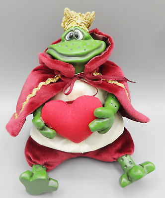 Prince Charming Frog Russ Berrie Country Folks Ceramic Shelf Sitter Figurine