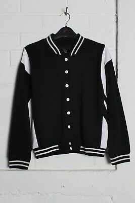 New Look Girls Kids Youths Bomber Jacket - Black - Size Age 12-13 Years (hh1)
