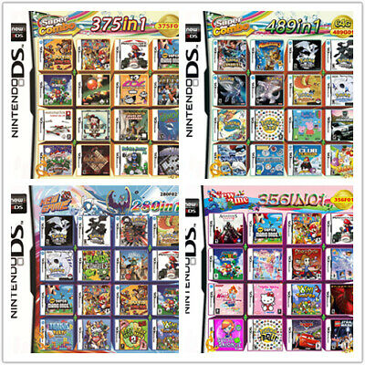 280/356/375/489 IN 1 Games Card Cartridge Multicart For Nintendo DS 3DS 2DS R4