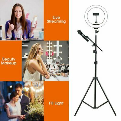 26cm LED Ring Light with Stand Dimmable LED Lighting Kit Makeup Live Youtube 10'