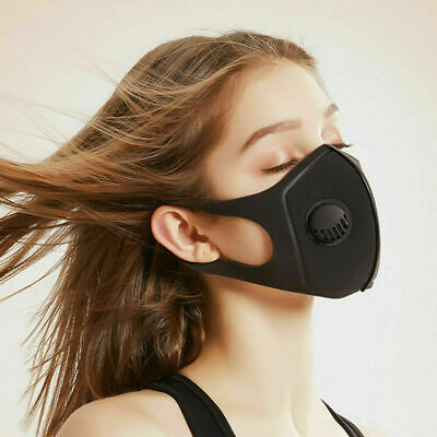 Breathable Mask Washable Face Mouth Masks washable Protection Filter UK Black